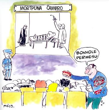 © Karikaturo far Karlo Marjo Gaĝego Arango: MICO